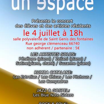 Fête de fin d'année Association Un Espace le 4 juillet 2018